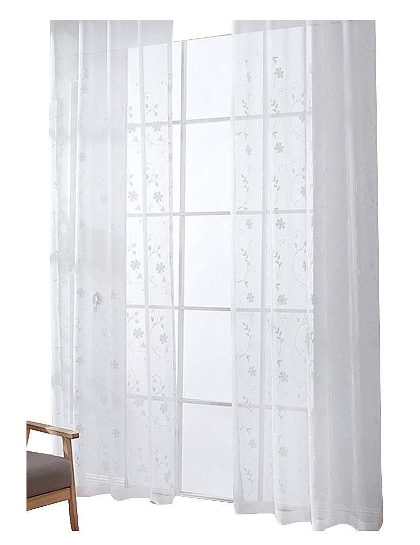 Aside Bsideヴィンテージスタイルリネン薄手カーテンドレイプリーロッドポケット花柄刺繍のホームデコレーション B07CVYHSGX、リビングルームダイニングルームと子供部屋(1パネル、W 52 x L 84インチ Aside x、ホワイト) 52W x 63L Inch, 1 Panel ホワイト 52W x 63L Inch, 1 Panel ホワイト B07CVYHSGX, 金沢市:71512e47 --- ijpba.info