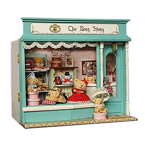 Rylai 3D Puzzles Wooden Handmade Dollhouse Miniature DIY Kit - Baby Bear's Fairy Fales Series Wooden Dollhouses with Furniture/Parts& Furniture X'Mas Gift from Rylai