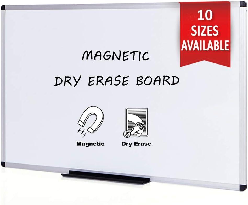 VIZ-PRO Pizarra blanca magnética con marco de aluminio, 150 x 120 cm