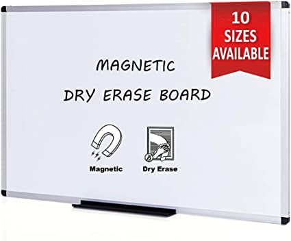 Silver Aluminium Frame VIZ-PRO Magnetic Dry Erase Board