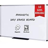 VIZ-PRO Tableau Blanc | surface laquée aimantée | cadre en aluminium, 120 x 60 cm