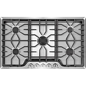 """Frigidaire FGGC3645QS 36"""" Gas Cooktop, Stainless Steel"""