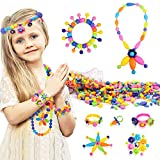 Tomons 300 Pcs Pop Snap Beads Set - Toy Pop Beads Jewelry Making Kit for Rings, Bracelets, Necklaces - Educational Beads for Girls, Toddlers, Kid