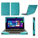 ASUS Transformer Book T100 CaseCover, FYY® Fully Armed Leather Case for ASUS Transformer Book T100 Blue