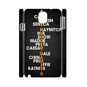 3D Stevebrown5v the Hunger Games Samsung Galaxy Note 3 Cases THG Character Names Typography Poster, Cute the Hunger Games, {White}