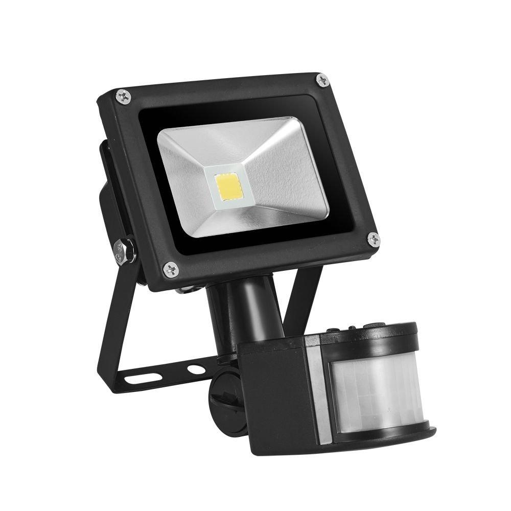 TEquem LED 10W Fluter mit Bewegungsmelder 900lm Strahler Warmweiß ...