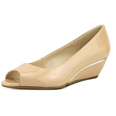 A35 Cammi Peep Toe Wedge Heels Blush Blush Size 8.0