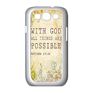 Bible Verse Original New Print DIY Phone Case for Samsung Galaxy S3 I9300,personalized case cover ygtg619728