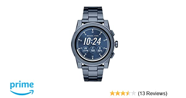 Michael Kors Access, Mens Smartwatch, Grayson Navy-Tone Stainless Steel, MKT5027