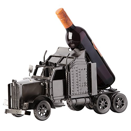 "BRUBAKER Wine and Beer Bottle Holder Statue ""Truck"" Sculptures and Figurines Decor & Vintage Wine Racks and Stands Gifts Decoration For Sale"