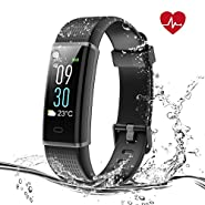 Syncwire Fitness Tracker [Colorful Screen] PolyFit HR Activity Tracker with IP68 Waterproof [Heart Rate Monitor, Calories Counter, Pedometer, Sleep Monitor] for Android & iOS Mobile Devices