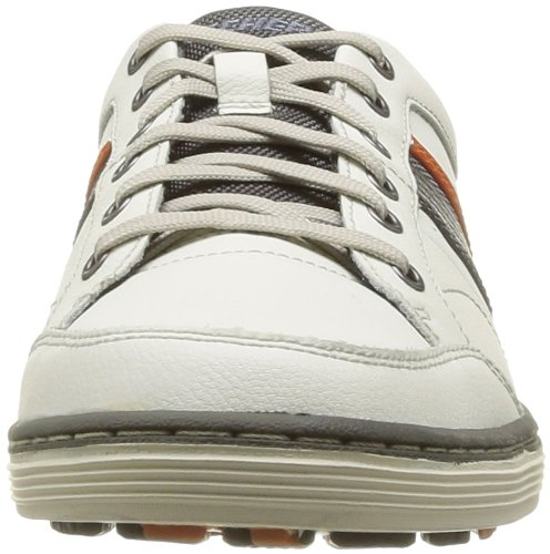 Skechers Usa Mens Sorino Duarte Relax Fit Oxford Off White