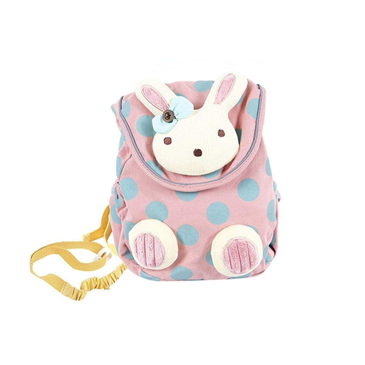 POPINCY Pink Toddler Backpack, Cute Stuffed Rabbit Bag for Girls over 1 Year Old, Safe Kid Bag with Anti-Lose Leash, Toddler Backpack with Pockets/Toddler Backpack Leash
