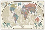 World Executive Wall Map Poster Mural (48x70 Laminated)