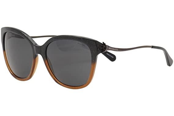 20a759cfaf78 ... usa coach womens hc8218 sunglasses black amber glitter gradient dark  grey solid 57mm 94f12 85057