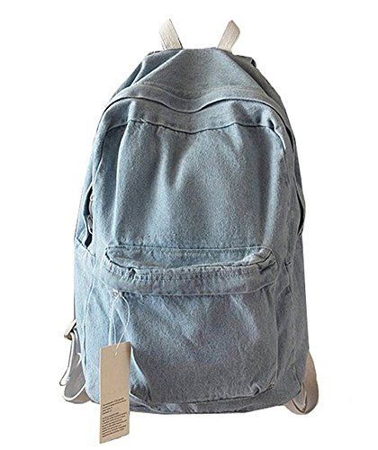College School Bags Backpacks Girls Denim Cute Bookbags Student Backpack School Laptop Backpack Bag Pack Super Cute for School for Teenage (Light Blue) by Kederastyle