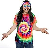 Tacobear Hippie Disfraz Mujer Hombre Gafa Hippie Collar Hippie ...