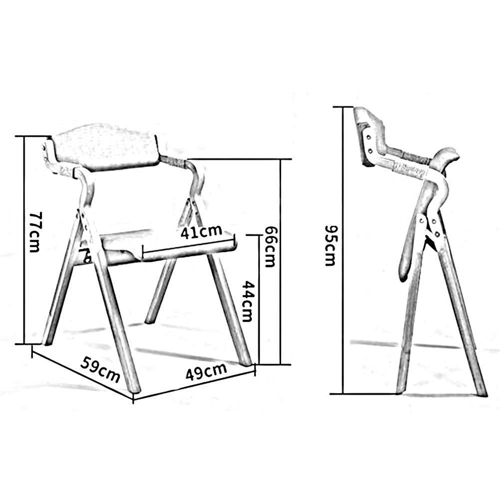 JIEER-C Fritidsstolar massivt trä matstol enkel duk hopfällbar vuxen fåtölj dator hushåll hållbar stark T2