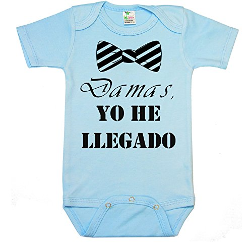 """ Damas, yo he llegado "" Spanish Custom Boutique Baby bodysuit onesie."