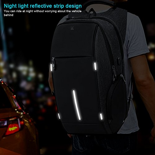 Business Laptop Backpack, HiOrange Travel Anti Theft Computer Backpack with USB Charging Port, Waterproof Night Light Reflective College school bag for Women & Men Fits 15.6 Inch Laptop and Notebook by HiOrange (Image #5)