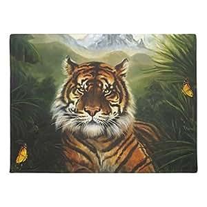AILOVYO paisaje de tigre de goma antideslizante entrada camino al aire libre decoración de interior alfombra Doormats, 23.6x 15.7-inch