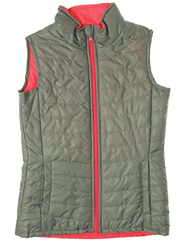 Layer 8 Girl's Reversible Puffer Vest Silver Punch Large (Reversible Puffer Vest)