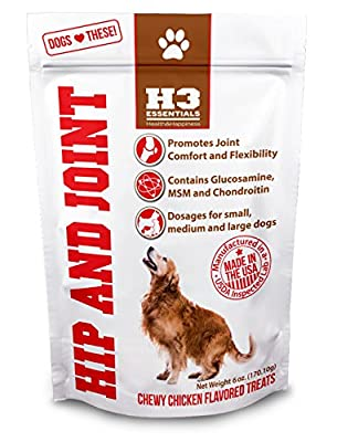 Glucosamine for Dogs - Hip and Joint Supplement with Glucosamine, Chondroitin, MSM for Maximum Mobility, Pain Relief and Joint Health for Dogs.