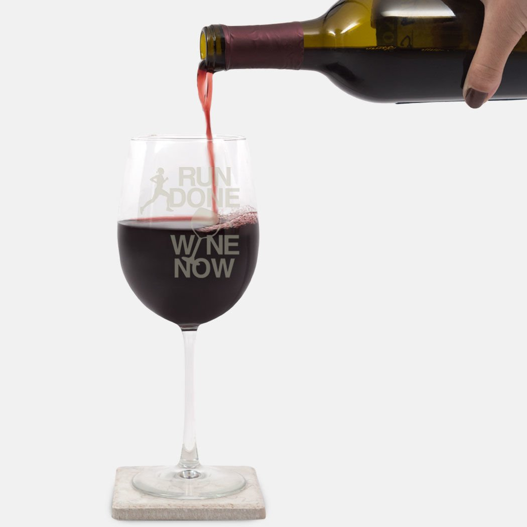 c3a48480e Amazon.com  Run Done Wine Now Female Engraved Wine Glass