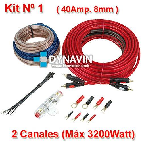 KIT 1 - Kit de instalación, juego de cables para instalar amplificadores de sonido y