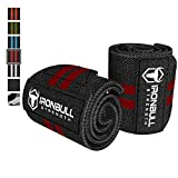 """Wrist Wraps (18"""" Premium Quality) for Powerlifting, Bodybuilding, Weight Lifting - Wrist Support Braces for Weight Strength Training"""