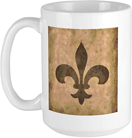 Amazon Com Cafepress Fleur De Lis Large Mug Coffee Mug Large 15 Oz White Coffee Cup Kitchen Dining