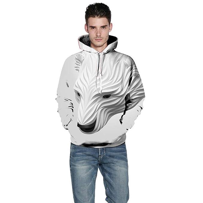 beautyjourney Sudaderas para Hombres Jersey de Manga Larga con Estampado 3D de Fox Camisa Deportiva Parejas Sudaderas con Capucha Blusa Camisas Outwear: ...