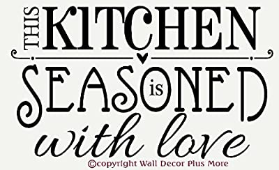 Wall Décor Plus More WDPM1195 This Kitchen is Seasoned with Love Wall Vinyl Sticker Decal, Black