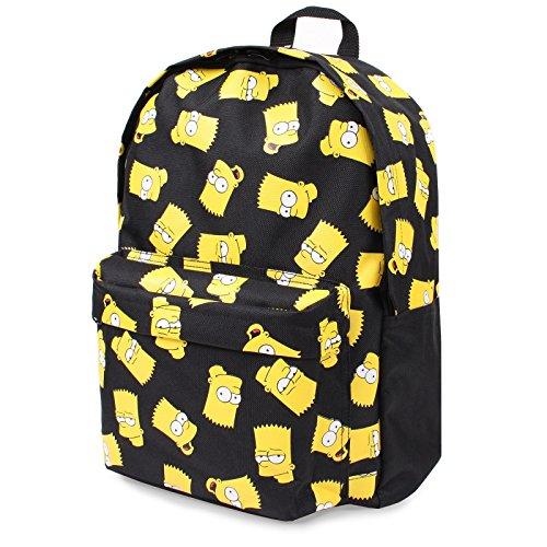 Simpsons Bart Face Children's Backpack, 41 cm, Black]()