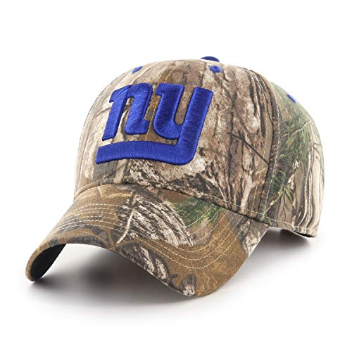 (OTS NFL New York Giants Male Hickory All-Star Adjustable Hat, Realtree, One Size)