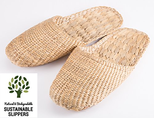 Sandals slippers Knitted Handmade Ladies 100 For Style Water Men And Hand Hyacinth Woven Natural qtgawE