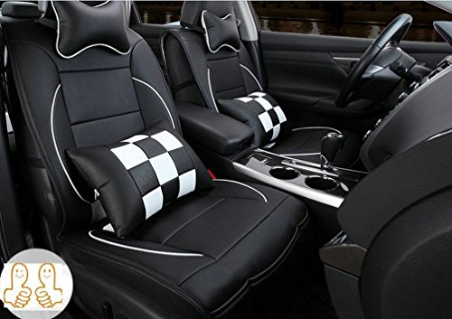 Opall Full Set 10PCS Needlework PU Leather Front Rear Car Seat Cushion Cover for Kia all Series Sorento Ceed Cerato Carnival Sporage R Ceed SW Rio Soul optima Venga 5 seats