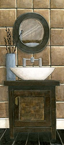 - Modern Bath Panel III by Megan Meagher Art Print, 13 x 30 inches