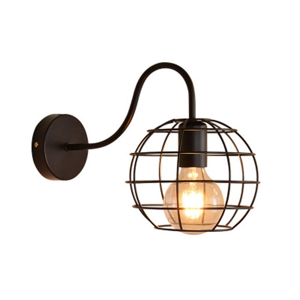 YWYU Industrial Vintage Pendant Lighting Metal Hanging Lamp Adjustable Hemp Rope Chandelier Light Fixture for Living Room Kitchen Island Restaurant Cafe Bar (Color : Black-a)