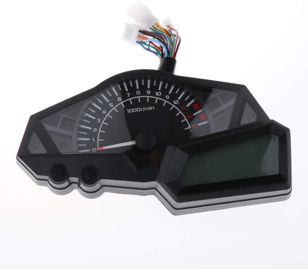 Gazechimp Motorcycle Odometer Speedometer Gauge LED Backlight for Kawasaki 300