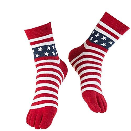 a5de49e2b1dfb USA Flag Toe Socks, American Stars & Stripes Red White and Blue ...