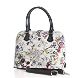 Anuta Flower Print Leather Medium Handbag