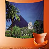 UHOO2018 Square Tapestry Luxor Hotel Casino on Las Vegas Strip Throw, Bed, Tapestry, or Yoga Blanket 63W x 63L Inch