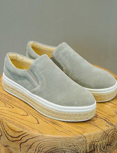 Cerrada Eu36 Mujer Uk6 Zapatos Punta Plataforma Zq Cn35 Eu39 Gray Redonda Cn39 Ante Comfort De Casual 5 5 us5 Black Mocasines Gyht Gris Uk3 us8 Negro T58tTYwqB