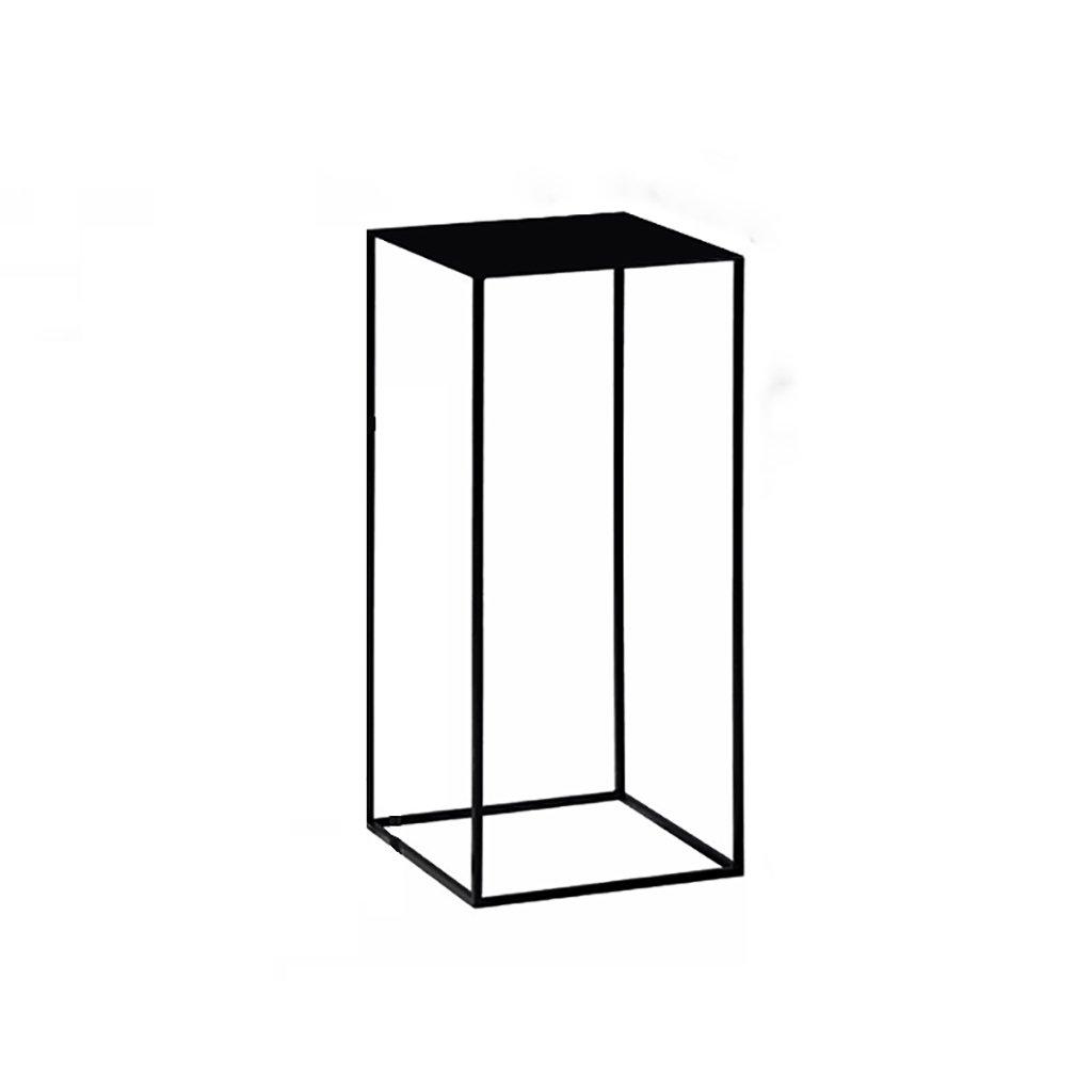 Hongsezhuozi Tische Teetisch Couchtisch Kreativ Amerikanisch Metall Hochtisch Einfach Mini Modern Wohnzimmer Sofa Schwarz Beistelltisch Ecktisch Freizeittisch (größe   34x34x74cm)