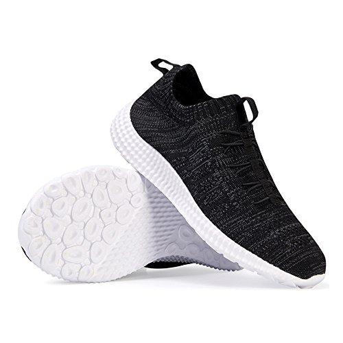FZUU Sneakers Basses Homme Chaussures de Sport Course Trainers Respirant Léger Décontractées Running Gym Basses Tennis Sport Baskets Noir wve8DsrYb