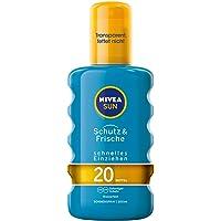 Nivea Sun Sol Spray transparente, factor de protección: 20, 200 ml botella con pulverizador, protección y frescor