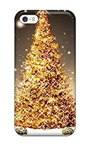 Best 1021920K66681092 Excellent Iphone 5/5s Case Tpu Cover Back Skin Protector Glowing Christmas Tree