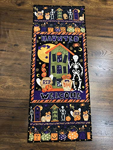 Halloween Haunted Welcome QuiltedTable Runner Wall Hanging -