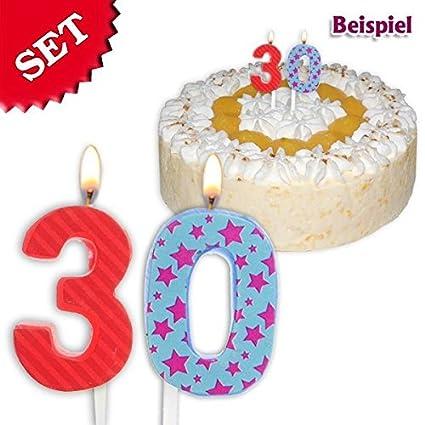 Velas de cumpleaños número 30, 2,5 cm: Amazon.es: Juguetes y ...